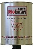 Кофе в подарок банка 3 кг. Molinari 5 zvezd зерно Италия