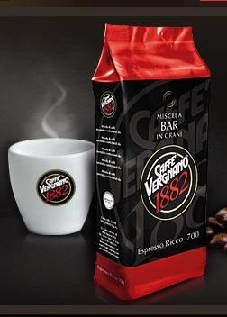Кофе Вергнано ESPRESSO RICCO 700 с хорошо  выраженной пенкой