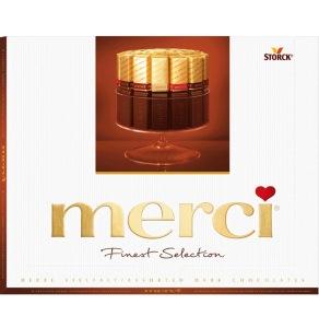 Конфеты Мерси набор коричневого цвета с ассорти тёмного шоколада
