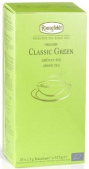 Чай Роннефельдт Классический Зелёный 25 пакетиков для заваривания в чашечках.