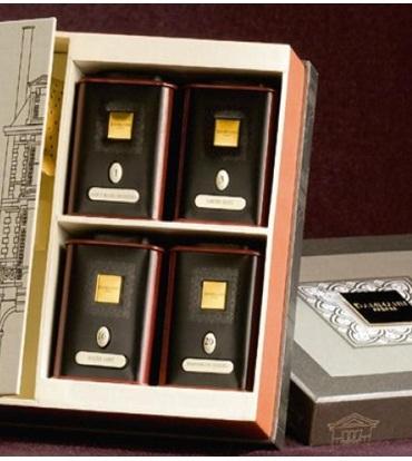 набор Площадь Вогез (Чай в подарочной упаковке:3 банки по 30 гр, 1 по 15 гр и ситечко).