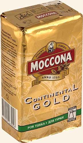 Moccona Continental Gold натуральный молотый кофе