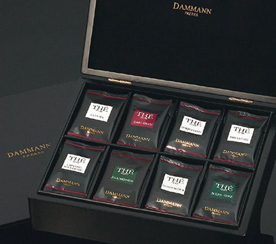 Чай Dammann / Дамман Подарочный набор Les Sachets Cristal/Саше кристалл, коробка темное дерево (Чай в подарочной упаковке: 8 сортов чая по 6 пакетиков).
