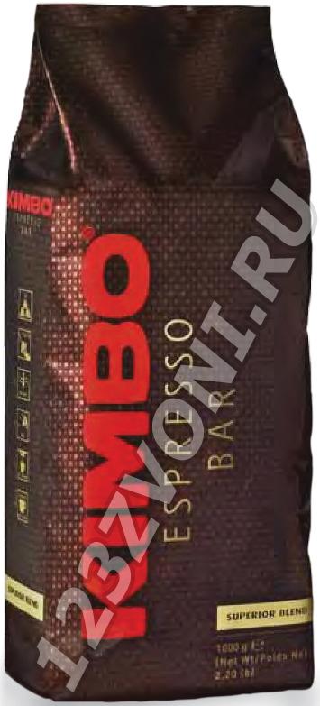 Kimbo Супериор Бленд (SUPERIOR BLEND), 1000 г., зерно, пакет с клапаном.