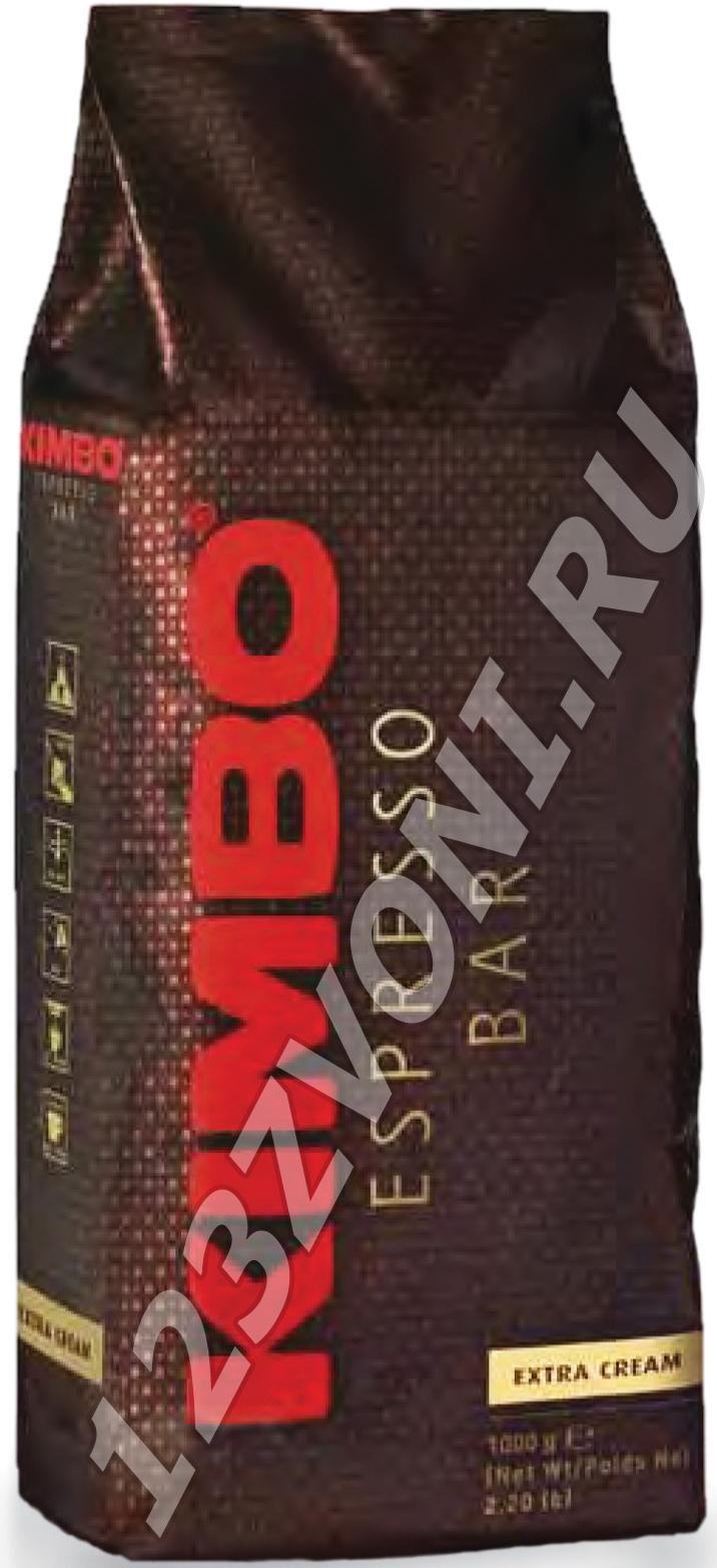 Kimbo Экстра Крим (EXTRA CREAM), 1000 г., зерно, пакет с клапаном.