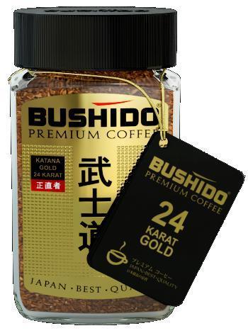 Кофе Bushido Катана голд 24 карата