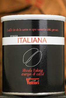 Кофе Vettori Italiana молотый (банка) 250 гр.