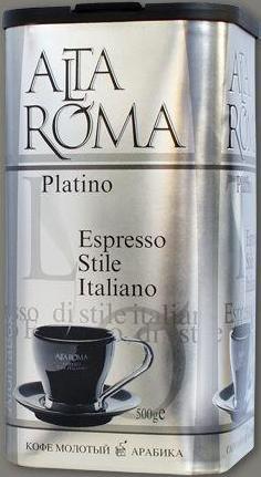 Кофе AltaRoma Platino 500гр. молотый, аромабокс