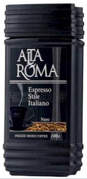 Кофе AltaRoma Nero, сублимированный, 100г