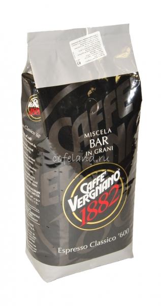 Vergnano Espresso Classico 600 / Вереньяно эспрессо классико 600 кофе в зернах 1 кг.