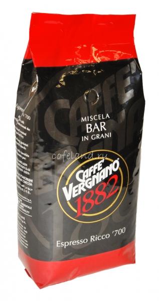 Vergnano Espresso Ricco 700 / Вереньяно эспрессо Рикко 700 кофе в зернах 1 кг.