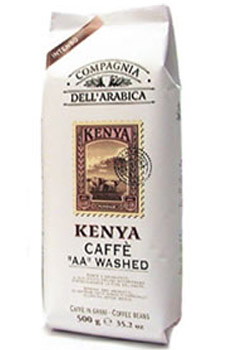 Кофе Compagnia Dell` Arabica Kenia AA Washed в зернах 0,5 кг.