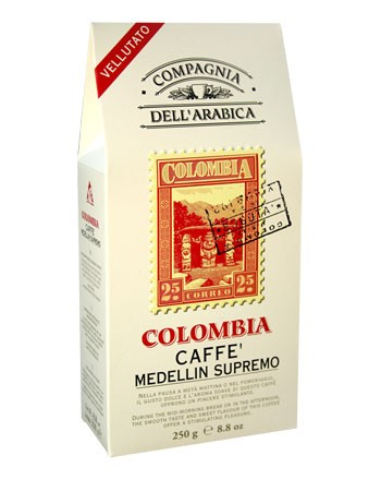 Кофе Compagnia Dell`Arabica Colombia Medellin Supremo в зернах (100% арабика) 1 кг.