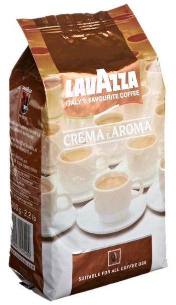Кофе Lavazza Crema e Aroma в зерне 1 кг (в/упаковка).