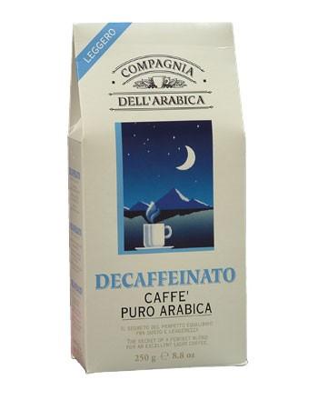 Кофе Compagnia Dell`Arabica DECAFFEINATO в зернах 0,5 кг.