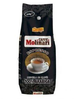 Кофе MOLINARI 100% ARABICA в зернах 0,5 кг в/упаковка.