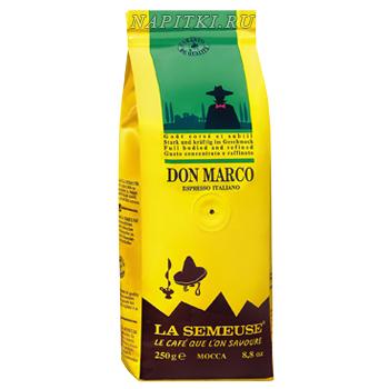 Кофе La Semeuse Don Marco в зерне 0.25 кг.