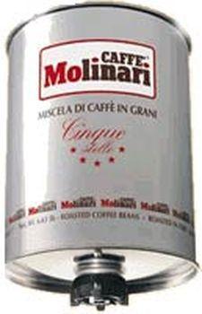 Кофе MOLINARI CINQUE STELLE Пять звезд в зернах 0,25 кг.
