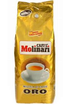 Кофе MOLINARI ORO BAR в зернах 0,5 кг в/упаковка.