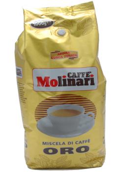 Кофе MOLINARI ORO BAR в зернах 1 кг.