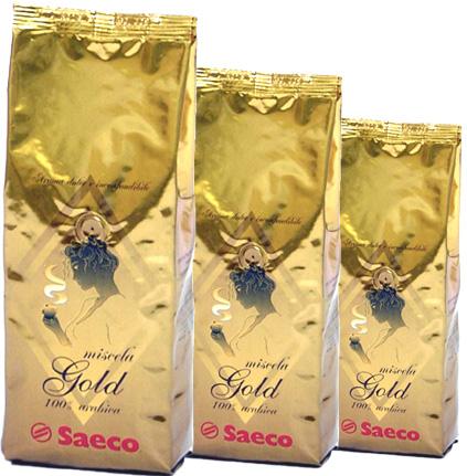 Кофе Saeco Gold в зернах 1,0 кг.