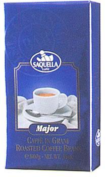 Кофе SAQUELLA MAJOR / САКВЕЛЛА Мажор в зернах 1 кг.