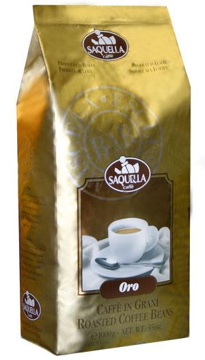 Кофе SAQUELLA ORO / САКВЕЛЛА Оро в зернах 1 кг.