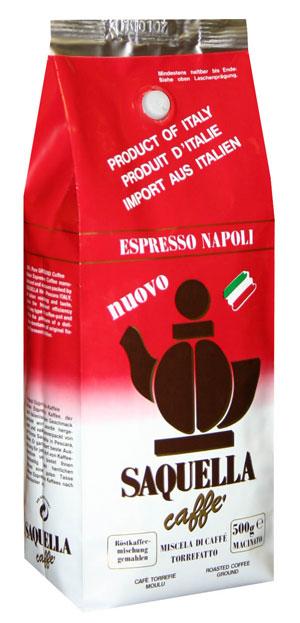 Кофе SAQUELLA Espresso Napoli / САКВЕЛЛА Эспрессо Наполи в зернах 1 кг.
