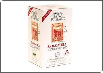Кофе Compagnia Dell`Arabica Colombia Medellin Supremo в чалдах, 6,7 г х 18 шт.