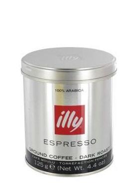 Кофе ILLY Илли молотый 125 гр. мет. банка
