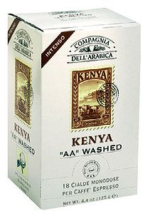 Кофе Compagnia Dell`Arabica Kenya AA Washed в чалдах, 6,7 г х 18 шт.
