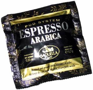 Кофе SAQUELLA Arabica / САКВЕЛЛА Арабика в чалдах, 6,7 г х 150 шт.