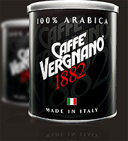 Vergnano Arabica Moka coffee.