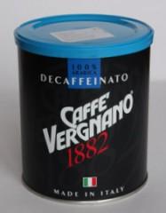 Vergnano DECAFFEINATO кофе без кофеина молотый 0,25 кг.
