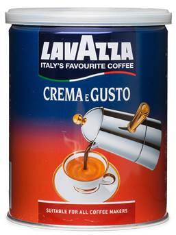 Кофе Lavazza Crema e Gusto молотый 0,25 кг ж/б.