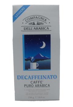 Кофе Compagnia Dell` Arabica DECAFFEINATO молотый вак.упак (100% арабика) 0,25 кг.