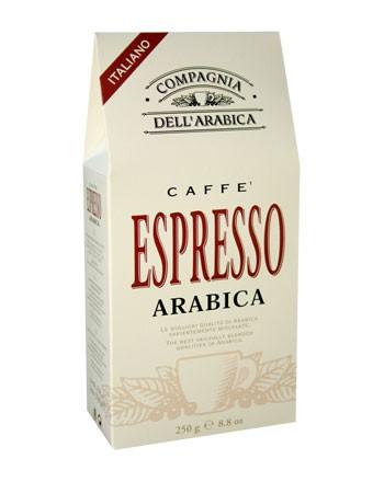 Кофе Compagnia Dell` Arabica Purissimi Espresso Arabica молотый (100% арабика) (вак.упак-ка) 0,25 кг.