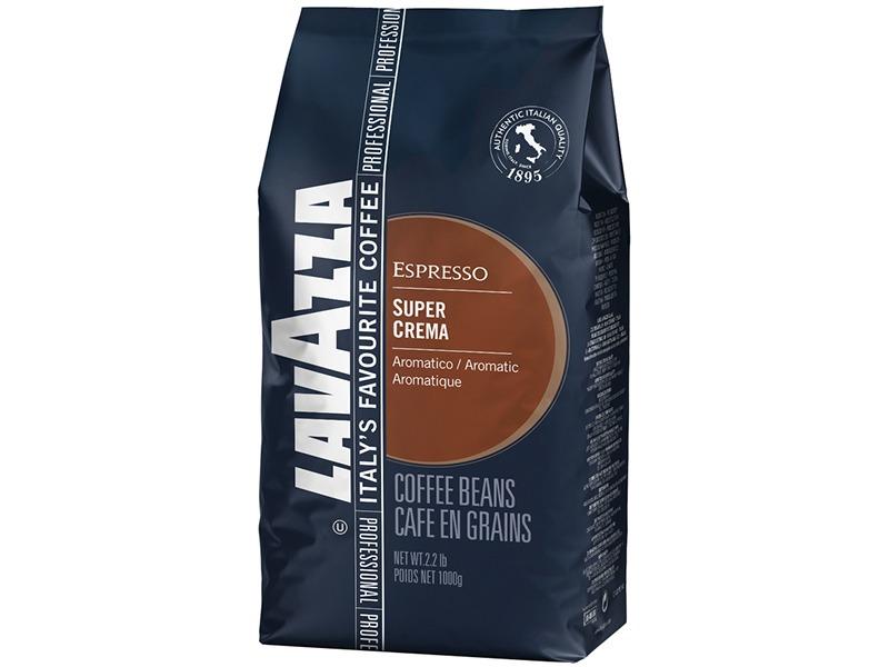 Кофе Lavazza Super Crema в зерне 1 кг (в/упаковка).