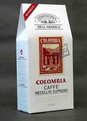 Кофе Compagnia Dell`Arabica Colombia Medelliln Supremo молотый (100% арабика) 0,25 кг.