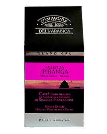 Кофе Compagnia Dell`Arabica Grand Cru Ipiranga Brasile молотый (100% арабика) 0,25 кг.