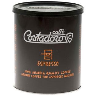 Кофе Costadoro Espresso costadoro молотый (90% арабика,10% робуста) 0,25 кг (банка).