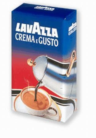 Кофе Lavazza Crema e Gusto молотый 0,25 кг (в/упаковка).