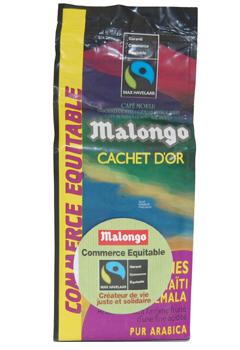 Кофе Malongo Золотая пачка молотый 0,25 кг.