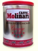 Кофе MOLINARI Пять звезд CINQUE STELLE молотый 0,25 кг.