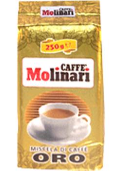 Кофе MOLINARI ORO BAR молотый 0,25 кг.