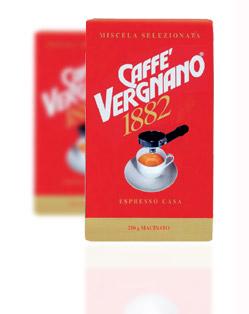 Кофе Vergnano Espresso Casa молотый 0,25 кг.