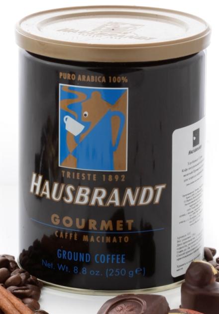 Кофе молотый Hausbrandt Gourmet. Упаковка бaнкa 250гр.