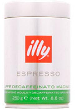 Кофе ILLY (illi - illycaffe) Илли декофеиновый молотый 0,25 кг (мет. банка).