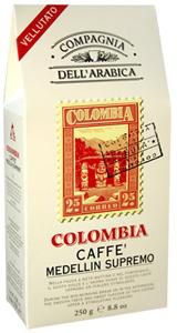 Compagnia Dell Arabica Colombia Medellin Supremo, молотый, 250 г., пакет.