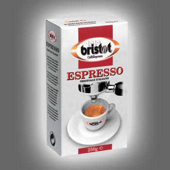 Bristot Espresso, молотый, 250 г., пакет, вакуум.